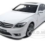 Mercedes CL63 AMG White With Leather Seats 1/18 Diecast Model Car by Autoart