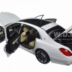Mercedes Maybach S Class S600 White 1/18 Model Car by Autoart