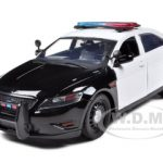 Ford Police Interceptor Concept Car Unmarked Black/White 1/24 Diecast Model Car by Motormax