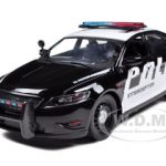 Ford Police Car Interceptor Concept Police Black & White 1/24 Diecast Model Car by Motormax
