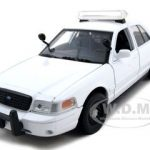 2010 Ford Crown Victoria Unmarked Police Car 1/24 White Diecast Car Model by Motormax