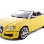 2008 Audi RS4 Convertible Yellow 1/18 Diecast Model Car by Maisto