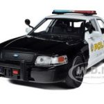 2010 Ford Crown Victoria San Gabriel Police Car 1/24 Diecast Model Car by Motormax