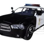 2011 Dodge Charger Pursuit LAPD Los Angeles Police Department Car 1/24 Diecast Car Model by Motormax