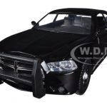 2011 Dodge Charger Pursuit Slick Top Unmarked Black Police Car 1/24 Diecast Car Model by Motormax