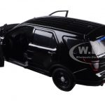 2015 Ford Interceptor Unmarked Police Car Black 1/24 Diecast Model Car by Motormax