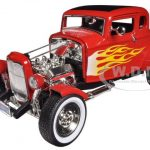 1932 Ford Hot Rod Red with Flames Limited Edition / Platinum Collection 1/18 Diecast Model Car by Motormax
