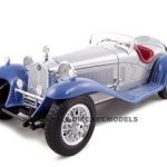 1932 Alfa Romeo 8C 2300 Silver 1/18  Diecast Model Car by Bburago