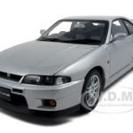Nissan Skyline GT-R (R33) V-Spec Sonic Silver 1/18 Diecast Model Car by Autoart