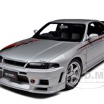Nissan Skyline GT-R (R33) R Tune Silver With Stripes 1/18 Diecast Model Car by Autoart