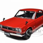 1st Generation Nissan Skyline 2000 GT-R (KPGC10) Red 1/18 Diecast Model Car by Autoart