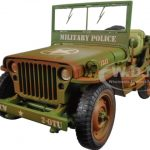 US Army WWII Jeep Vehicle Military Police Green Weathered Version 1/18 Diecast Model Car  by American Diorama