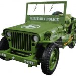 US Army WWII Jeep Vehicle Military Police Green 1/18 Diecast Model Car by American Diorama