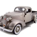 1937 Studebaker Pickup Titanium 1/24 Diecast Car Model by Unique Replicas