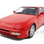 1985 Porsche 944 Turbo Guards Red 1/18 Diecast Car Model by Autoart