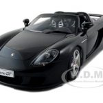 Porsche Carrera GT Black with Black Interior 1/18 Diecast Car Model by Autoart