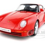 Porsche 959 Red 1/18 Diecast Model Car by Autoart
