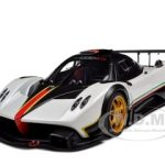 Pagani Zonda R White with Italian Stripes 1/18 Diecast Model Car by Autoart