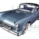 1956 Ford Thunderbird Blue With Custom Wheels 1/18 Diecast Car Model by Motormax