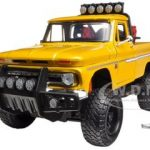 1966 Chevrolet C10 Fleetside Pickup Truck Off Road Yellow 1/24 Diecast Model by Motormax