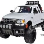 2001 Ford F-150 XLT Flareside Supercab Pickup Truck Off Road White 1/24 Diecast Model by Motormax