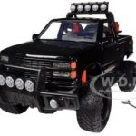 1992 Chevrolet 454 SS Pickup Truck Off Road Black 1/24 Diecast Model by Motormax