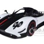 Pagani Zonda 5 Cinque White/Black 1/18 Diecast Car Model by Motormax