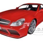 Mercedes SL65 AMG Black Series (R230) Red 1/18 Diecast Model Car by Motormax