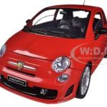 Fiat 500 Abarth Red 1/18 Diecast Car Model by Motormax