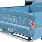 1958 Chevrolet Apache Fleetside Pickup Light Blue 1/24 Diecast Car Model by Motormax