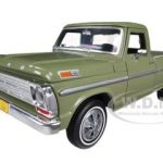 1969 Ford F-100 Pickup Truck Green 1/24 Diecast Car Model by Motormax
