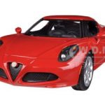 Alfa Romeo 4C Red 1/24 Diecast Car Model by Motormax