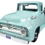 1955 Ford F-100 Pickup Truck Light Green 1/24 Diecast Model Car by Motormax