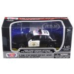 1999 Ford Crown Victoria California Highway Patrol (CHP) Black and White Car 1/43 Diecast Model Car by Motormax