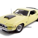 1969 Ford Mustang Boss 429 Yellow 1/24 Diecast Car by Unique Replicas