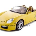 Porsche Boxster S Yellow Convertible 1/18 Diecast Model Car by Maisto