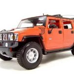 2003 Hummer H2 SUV Orange 1/18 Diecast Model Car by Maisto