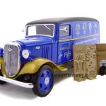 1935 Chevrolet Canopy Truck Blue Truck With Accessories 1/24 Diecast Model by Unique Replicas