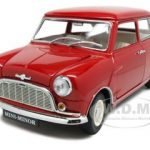 Morris Mini Minor Red 50th Anniversary 1/18 Diecast Model Car by Kyosho