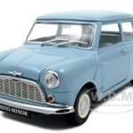 Morris Minor Mini Cooper Blue 50th Anniversary 1/18 Diecast Model Car by Kyosho