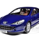 2005 Peugeot 407 Coupe Blue 1/18 Diecast Model Car by Norev
