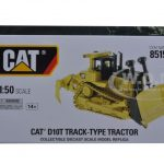 CAT Caterpillar D10T Track Type Tractor with Operator 1/50 Diecast Model by Diecast Masters