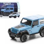 2012 Jeep Wrangler Rubicon Arctic Special Edition Blue With Case Limited Edition 1 of 2520 Produced Worldwide 1/43 Diecast Model Car by Greenlight