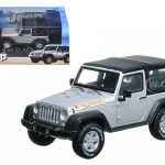 2010 Jeep Wrangler Islander Edition Bright Silver Metallic 1/43 Diecast Car Model by Greenlight