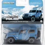 2014 Jeep Wrangler Polar Limited Edition Hydro Blue In a Blister Pack 1/43 Diecast Car Model by Greenlight