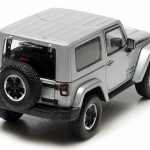 2014 Jeep Wrangler Polar Limited Edition Billet Silver Metallic With Display Showcase 1/43 Diecast Car Model by Greenlight