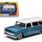 1966 Chevrolet Suburban Blue 1/43 Diecast Model Car by Greenlight
