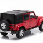 2014 Jeep Wrangler Unlimited Freedom Edition (Soft Top) Flame Red With Display Showcase 1/43 Diecast Model Car by Greenlight