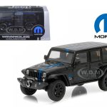 2014 Jeep Wrangler Unlimited Black Mopar Edition Apache Tribute With Display Showcase 1/43 Diecast Model Car by Greenlight