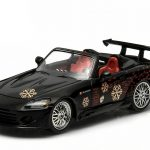 Johnnys 2000 Honda S2000 Black The Fast and The Furious Movie (2001) 1/43 Diecast Model Car by Greenlight
